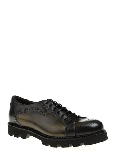 Divarese %100 Deri Bağcıklı Ayakkabı Yeşil